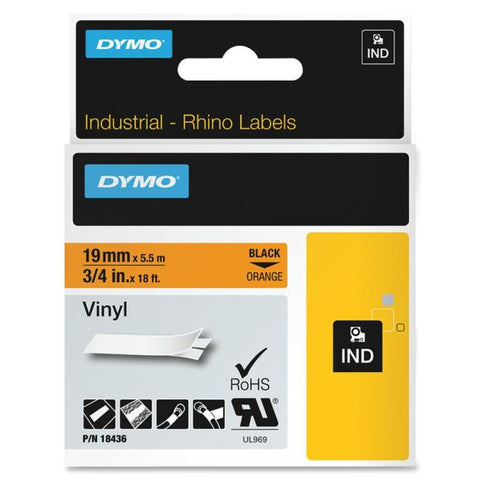 Dymo Rhinopro Permanent Adhesive Vinyl Tape - Roll(s - SystemsDirect.com