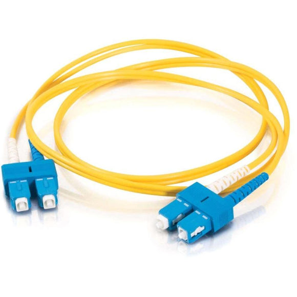 C2G-7m SC-SC 9-125 OS1 Duplex Singlemode PVC Fiber Optic Cable - Yellow