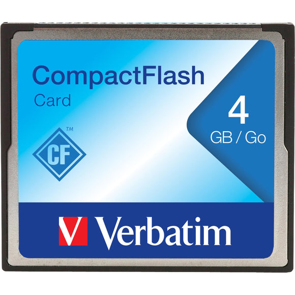 Verbatim Americas Llc Verbatim - Flash Memory Card - 4 Gb - Cf (4 X 1 Pack)