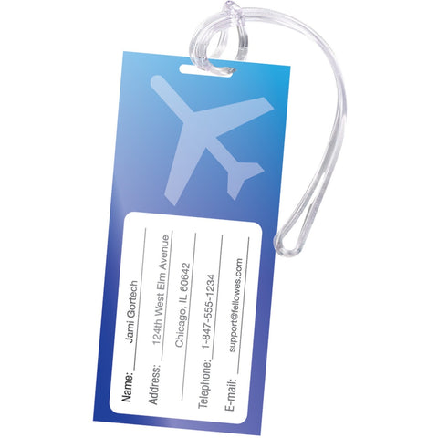 Fellowes Self-Adhesive Pouches - Luggage Tag, 5mil, 5 pack