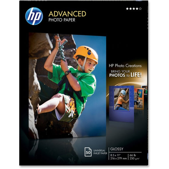 Hp Inc. Hp Advanced Photo Paper, Glossy, 8.5x11, 50 Ct. Case Pack Qty 5