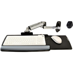 Ergotron Lx Wall Mount Keyboard Arm.mounts Keyboards To Any Wall While Providing