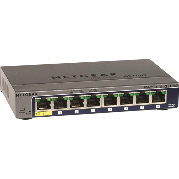 Netgear ProSafe GS108Tv2 Gigabit Smart Switch