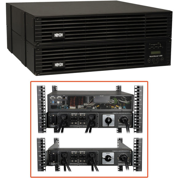 Tripp Lite UPS Smart Online 6000VA 5400W Rackmount 6kVA 200-240V USB DB9 Manual Bypass Hot Swap C19 4URM -> May Require up to 5 Business Days to Ship