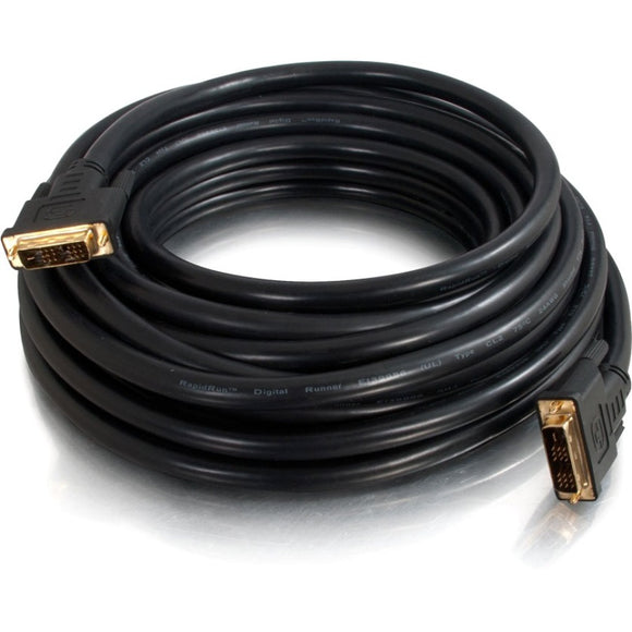 C2G 25ft Pro Series Single Link DVI-D Digital Video Cable M-M - In-Wall CL2-Rated