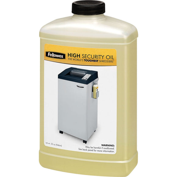 Fellowes Powershred® High Security Shredder Oil - 32 Oz. Bottle