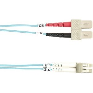 Black Box 10-GbE 50-Micron Multimode Value Line Patch Cable, SC-LC, 2-m (6.5-ft.)