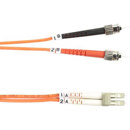 Black Box 50-Micron Multimode Fiber Optic Value Patch Cable, Duplex, Zipcord
