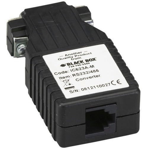 Black Box Async RS-232 to RS-485 Interface Converter, DB9 Male to RJ-11
