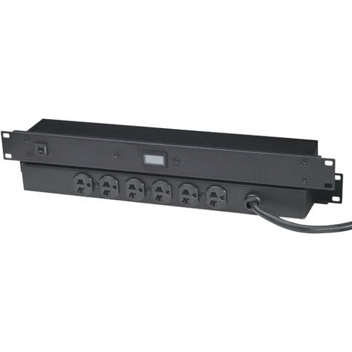 Black Box 20-amp Power Strip With Digital Ammeter,