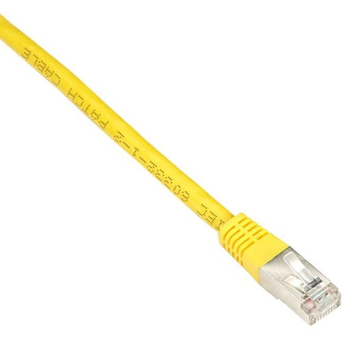 Black Box Cat6 250-MHz Shielded, Stranded Cable SSTP (PIMF), PVC, Yellow, 2-ft. (0.6-m)