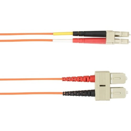 Black Box 10-m, SC-LC, 50-Micron, Multimode, Plenum, Orange Fiber Optic Cable