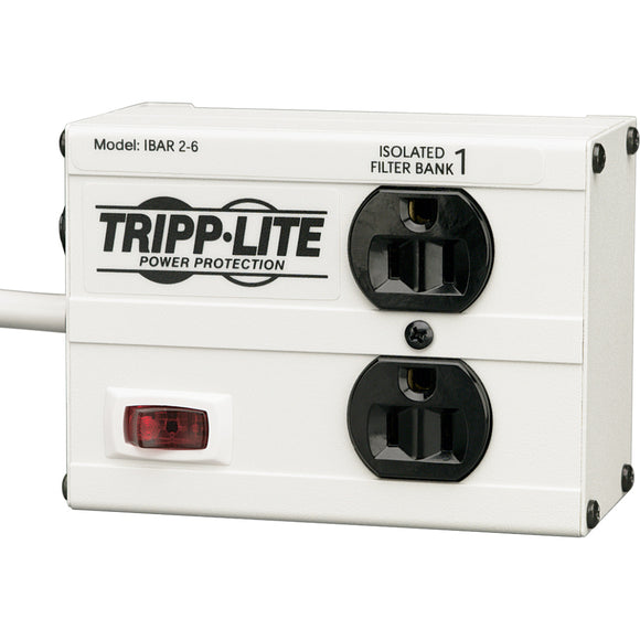 Tripp Lite Isobar Surge Protector Metal 2 Outlet 6' Cord 1410 Joules
