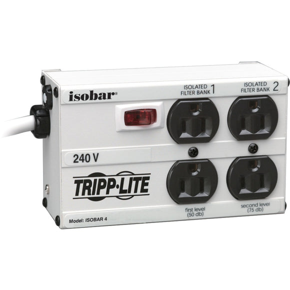 Tripp Lite Isobar Surge Protector Metal 230V 4 Outlet 1.8M Cord 330 Joules