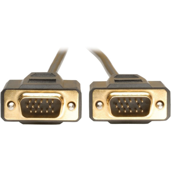 Tripp Lite 6ft VGA Monitor Gold Cable Molded Shielded HD15 M-M 6'