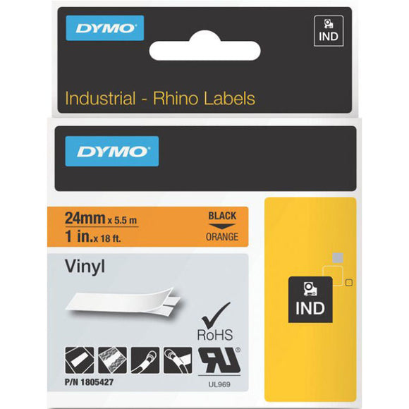 Dymo Black on Orange Color Coded Label