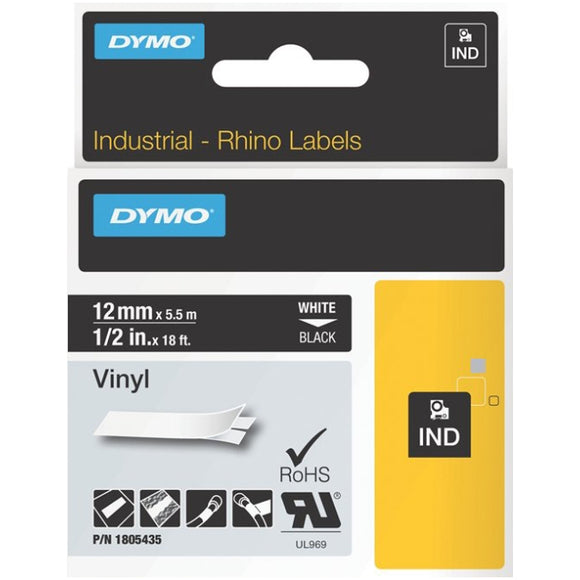 Dymo Black on White ID Label