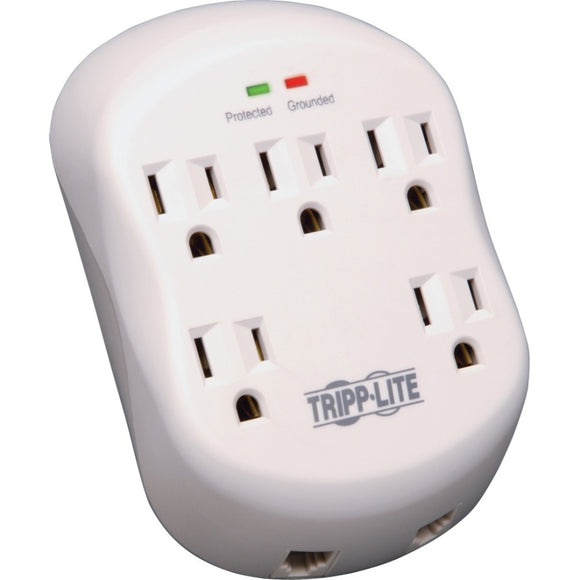 Tripp Lite Surge Protector Wallmount Direct Plug In 5 Outlet RJ11 1080 Joules