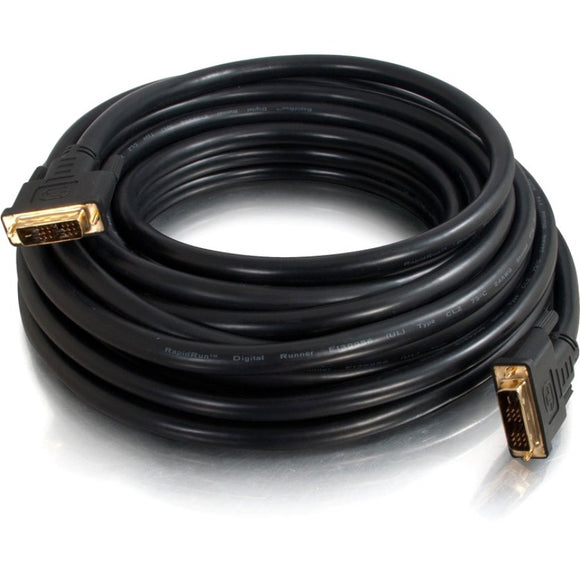 C2G 100ft Pro Series DVI-D CL2 M-M Single Link Digital Video Cable