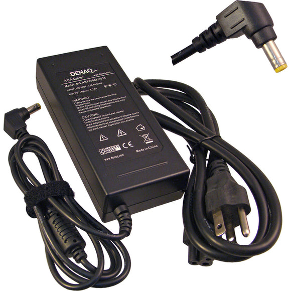 DENAQ 19V 4.74A 5.5mm-2.5mm AC Adapter for ACER Aspire, ACCELNOTE, TravelMate & FERRARI Series Laptops