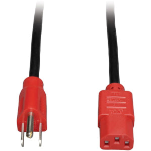 Tripp Lite 4ft Computer Power Cord Cable 5-15P to C13 Red 10A 18AWG 4' ->  -> May Require Up to 5 Business Days to Ship -> May Require up to 5 Business Days to Ship