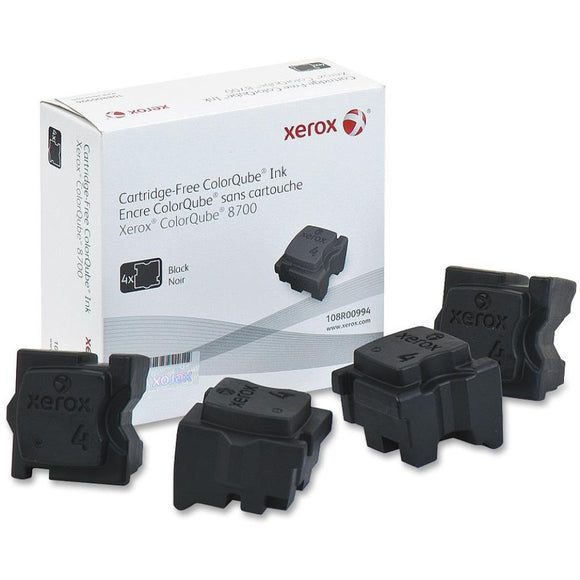 Xerox Solid Ink Black, Cq 8700 (4 Sticks)