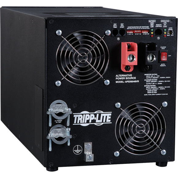 Tripp Lite 6000W APS X Series 48VDC 208-230V Inverter - Charger w- Pure Sine-Wave Output, AVR, Hardwired