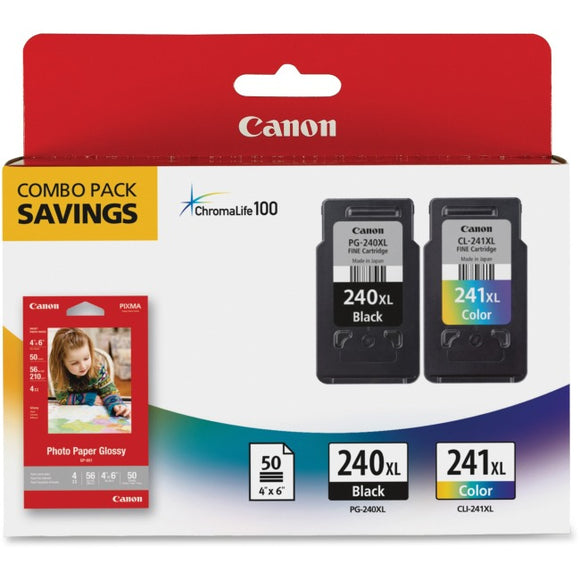 Canon Usa Canon Pg-240xl-cl-241xl W- Photo Paper 50 Sheets - For Mg2120, Mg3120, Mg4120, M