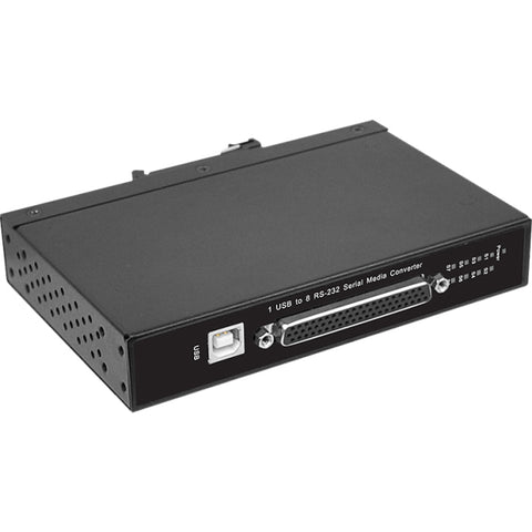 SIIG CyberX Industrial Rugged 8-port RS-232 USB to Serial Converter - Wide Temperature