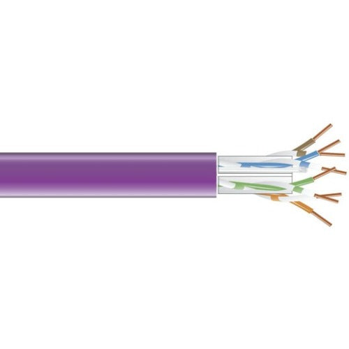 Black Box GigaTrue 550 CAT6, 550-MHz Solid Bulk Cable, PVC, Violet, 1000-ft. (304.8-m)