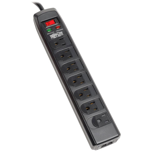 Tripp Lite Surge Protector Power Strip 120V 7 Outlet RJ11 6' Cord 1440 Joule