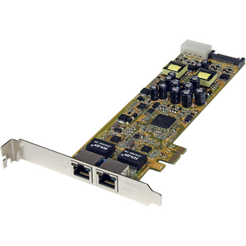 StarTech.com Dual Port PCI Express Gigabit Ethernet PCIe Network Card Adapter - PoE-PSE