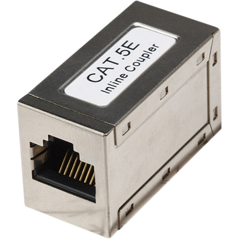 Intellinet Network Solutions Cat5e Modular Inline Coupler, FTP, Shielded, Silver - SystemsDirect.com