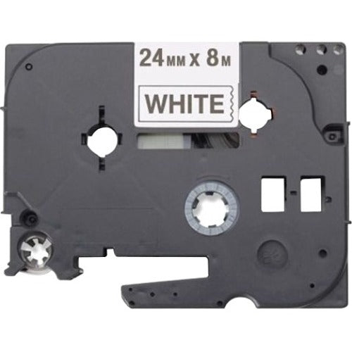 Brother Black on White Label Tape