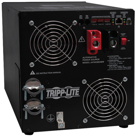 Tripp Lite 3000W APS 24VDC 230V Inverter - Charger w- Pure Sine-Wave Output Hardwired -> May Require up to 5 Business Days to Ship