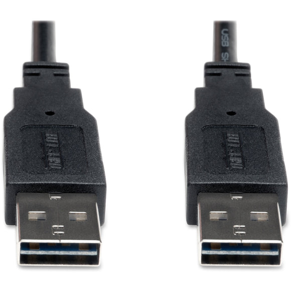 Tripp Lite 6ft USB 2.0 High Speed Reversible Connector Cable Universal M-M