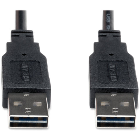 Tripp Lite 10ft USB 2.0 High Speed Reversible Connector Cable Universal M-M -> May Require up to 5 Business Days to Ship