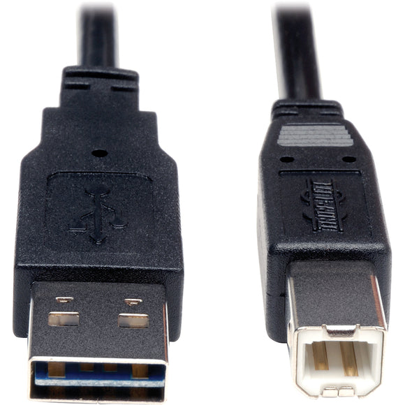Tripp Lite 3ft USB 2.0 High Speed Cable Reverisble A to B M-M -> May Require up to 5 Business Days to Ship