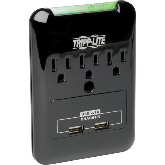 Tripp Lite Surge 3 Outlet 120V USB Charger Tablet Smartphone Ipad Iphone