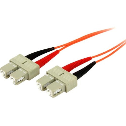5m Fiber Optic Cable - Multimode Duplex 50-125 - OFNP Plenum - SC-SC - OM2 - SC to SC Fiber Patch Cable
