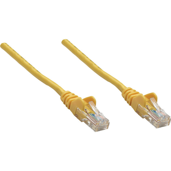 Intellinet Network Solutions Cat5e UTP Network Patch Cable, 1.5 ft (0.5 m), Yellow