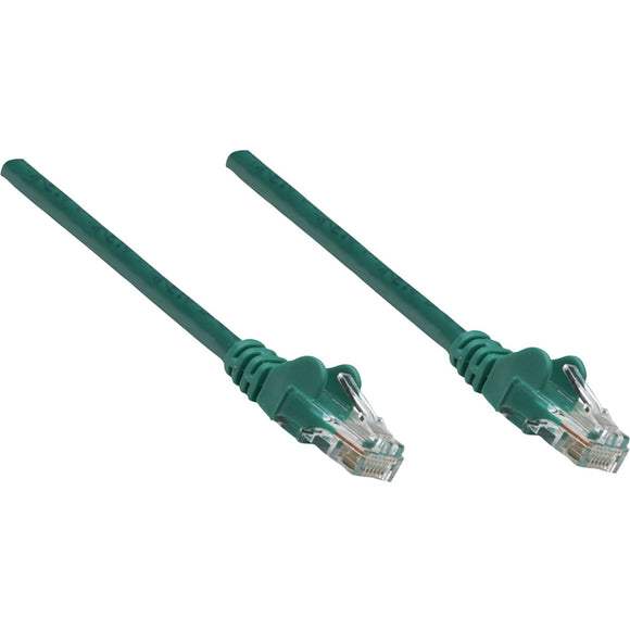 Intellinet Network Solutions Cat5e UTP Network Patch Cable, 7 ft (2.0 m), Green