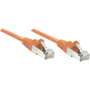Intellinet Network Solutions Cat6 UTP Network Patch Cable, 7 ft (2.0 m), Orange
