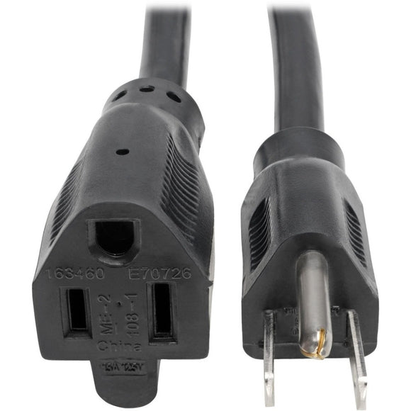 Tripp Lite 3ft Power Cord Extension Cable 5-15P to 5-15R Heavy Duty 15A 14AWG 3'