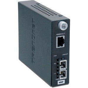 TRENDnet Intelligent 1000Base-T to 1000Base-SX Multi-Mode Fiber Converter