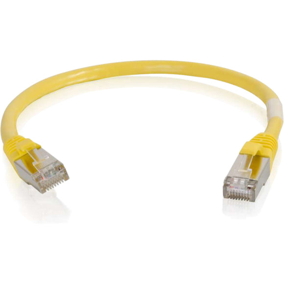 C2G 6in Cat6 Snagless Shielded (STP) Network Patch Cable - Yellow