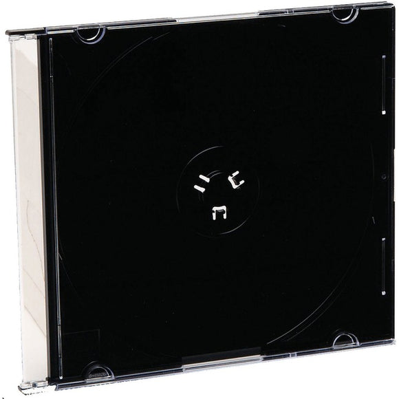 Verbatim CD-DVD Black Slim Jewel Cases - 200pk (bulk)