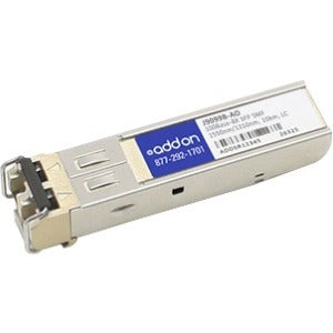 AddOn HP J9099B Compatible TAA Compliant 100Base-BX SFP Transceiver (SMF, 1550nmTx-1310nmRx, 10km, LC)