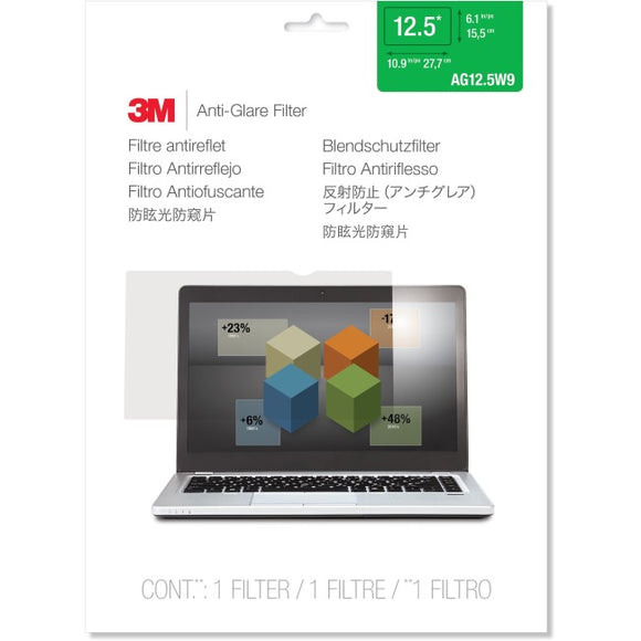 3M AG12.5W9 Anti-Glare Filter for Widescreen Laptop 12.5