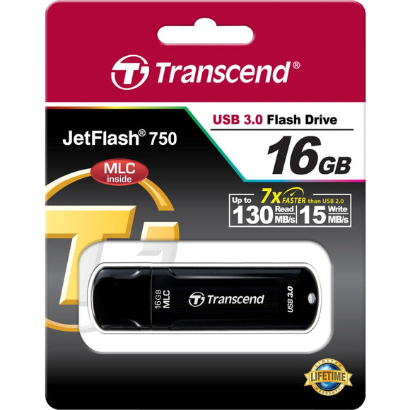Transcend 16GB JetFlash 750 USB 3.0 Flash Drive